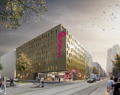 Hotelansicht MOXY Frankfurt East - Trade Fair Hotels Light + Building 2020 Frankfurt