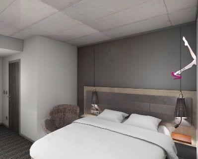 Moxy Frankfurt East - Ihr Messehotel für Light + Building 2022 in Frankfurt