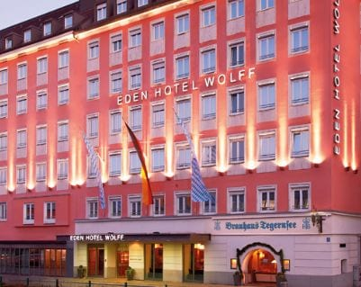 eden hotel wolff muenchen aussenansicht - Trade Fair Hotels transport logistic 2019 Munich