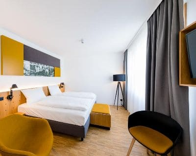 Doppelzimmer mk Hotel Rüsselsheim - Trade Fair Hotels Light + Building 2020 Frankfurt